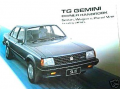 HOLDEN GEMINI TG OWNERS MANUAL HANDBOOK